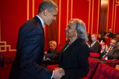 President Obama + Rachel Robinson – Widow of the Great Jackie Robinson |