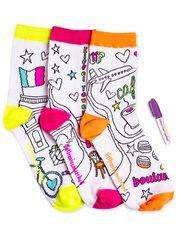 Paris Colorize Ankle Socks