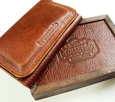 Personalized iPhone 5 wallet case in luxury wooden box. $148.00, via Etsy.