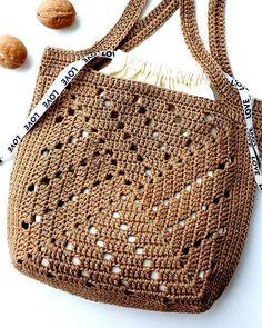 Crochet Wallet, Crochet Tote, Crochet Handbags, Knit Crochet, Easy Knitting Patterns, Crochet Patterns, Crochet Shoulder Bags, Wallet Pattern, Jute Bags