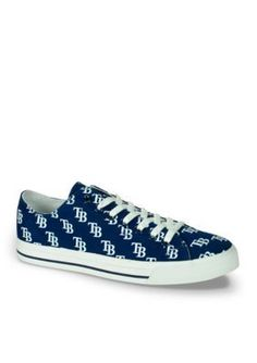 Row One Brands Navy Blue Unisex MLB Tampa Bay Rays Low Top Shoe