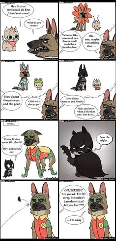 Adorable New Halloween Comics From Pixie And Brutus - World& largest collection of cat memes and other animals Cute Jokes, Funny Cute, Funny Shit, Funny Memes, Hilarious, Cat Memes, Silly Jokes, Funny Stuff, Animal Memes