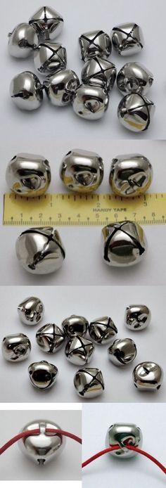 "3//4/"" LOT 50  Shiny SILVER JINGLE BELLS ~ 20mm ~ Metal Craft Holiday Bells"