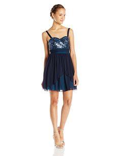 2ca511f6cb5 Amazon.com  Speechless Juniors  Sequin Bust Layered Short Prom Dress   Clothing. Sequin Party DressSequin Prom DressesHomecoming DressesParty  DressesWomen s ...