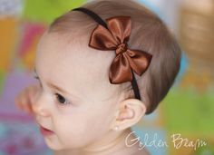 Baby hair bows. SO CUTE.