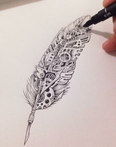 Not your ordinary feather... by Kerby Rosanes #doodle