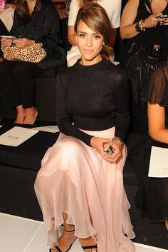 Jessica Alba - front row at #ralphlauren