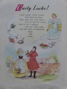 DESING HILDA BOSWELL Nursery Rhymes Poems, Rhymes Songs, Childhood Poem, Nursery Rhythm, Nursery Rymes, Kids Poems, Rhymes For Kids, Vintage Nursery, Vintage Books