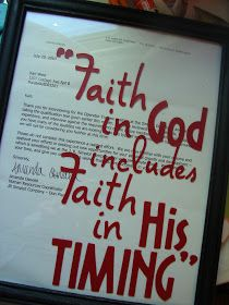 Framing an adoption match letter with a faith quote. DIY