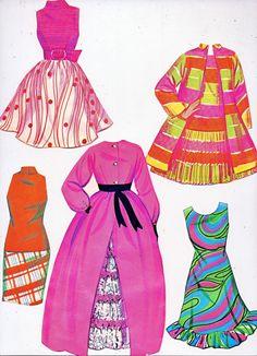 Mod Barbie Paper Doll Clothes Box by Whitman par lindapaloma