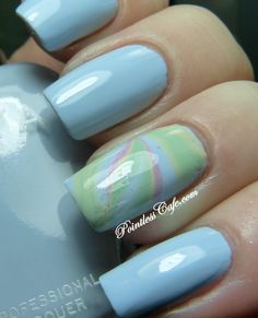 Zoya Lovely Collection for Spring 2013 - BLU with water marble of Neely, Blu, Jacqueline and GieGie  | Pointless Cafe