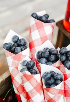 Healthy Snack for the Fourth of July: DIY Blueberry Paper Cones