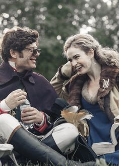 Lily James and James Norton behind the scenes of war and peace
