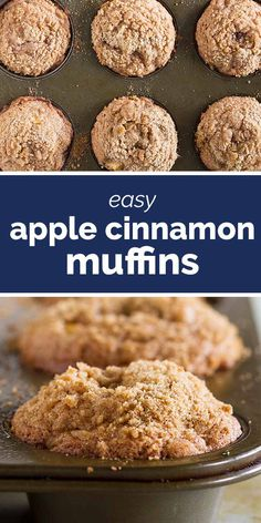 With the perfect amount of cinnamon little pockets of apples and a sweet crumb topping these Apple Cinnamon Muffins are the perfect way to start your day. - Muffins - Ideas of Muffins Breakfast Recipes, Dessert Recipes, Apple Breakfast, Breakfast With Apples, Easy Breakfast Muffins, Muffins Sains, Simple Muffin Recipe, Best Muffin Recipe, Kitchens