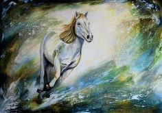 """Dynamisch"" by Beatrice Gugliotta, Animals, Animals: Land, Painting Art Work, Contemporary Art, Horses, Friends, Artist, Free, Painting, Animals, Painting Art"