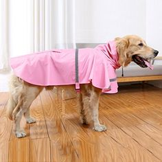 IdepetTM Pet Dog Cat Raincoat Waterproof Large Dog Jacket with Adjustable Strip Reflective Puppy Hoodie Outdoor Coat for Teddy Poodle Chihuahua Golden Retriever Labrador Retriever S M L XL XXL *** Check out this great product.(This is an Amazon affiliate link and I receive a commission for the sales)