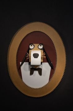 Cadre chien en carton