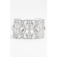 Nina 'Angelica' Wide Crystal Line Bracelet ($155) ❤ liked on Polyvore