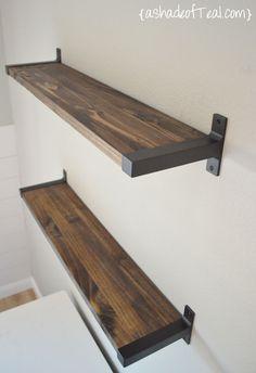 Office {One Room Challenge}, Week 5. DIY shelves | A Shade Of Teal