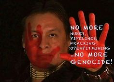 No more nukes, pipelines, fracking, open pit mining, and genocide! -via Tiokasin Ghosthorse https://www.facebook.com/photo.php?fbid=10154571090029571&set=a.47576089570.54815.587534570&type=3&theater