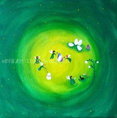 Helping Easter original painting by DreamTreeWonders on Etsy