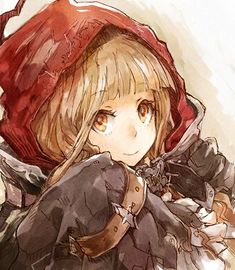 Manga Art, Manga Anime, Anime Art, Game Character, Character Design, Red Ridding Hood, Anime Outfits, Little Red, Box Art