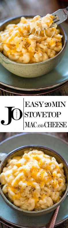 Easy Stovetop Mac and Cheese that can be made from scratch and ready in 20 minutes plus it's kid friendly!