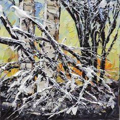 Original Acryli Parinting titled Untitled Winter Birch - 165932 by Maya Eventov