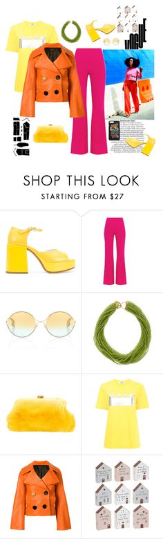 """My house, my street, my block"" by juliabachmann ❤ liked on Polyvore featuring MM6 Maison Margiela, Diane Von Furstenberg, Gucci, Arthur Marder Fine Jewelry, Blood & Honey, MSGM, EUDON CHOI, Ganz and Prada"