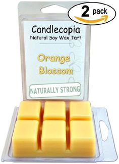 Candlecopia Orange Blossom 6.4 oz Scented Wax Melts - Orange bouquet with a background of vanilla & raspberry - 2-Pack of naturally strong scented soy wax cubes throw 50+ hours of fragrance when melted in Scentsy®, Yankee Candle® or standard electric tart warmer Candlecopia http://www.amazon.com/dp/B00K4P3ME2/ref=cm_sw_r_pi_dp_7rZvvb01ENPF1