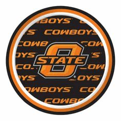 Oklahoma State OSU Cowboys 7-inch Appetizer or Dessert Paper Plate - 8 count #TeamTailgateShop