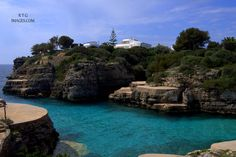 Cala en Bruch Menorca crystal clear waters and incredible scenery. Crystal Clear Water, Menorca, Sunrise, Paradise, Scenery, The Incredibles, Island, Spaces, Landscape