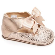 696bed36fa18 Nursery Rhyme Rose Gold Ballet Flats ( 19) ❤ liked on Polyvore featuring  shoes