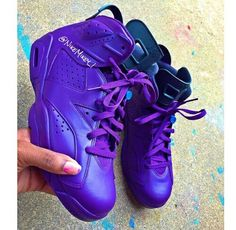 Purple custom Jordan