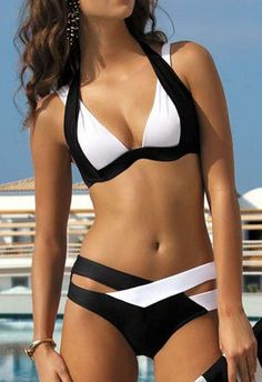 Cupshe Deep Water Halter Bikini Available at Sammydress.com Great prices and amazing products!