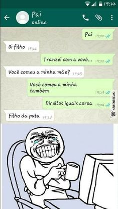 kkkkkkkk Deus QUE ERRADO KKK Funny Images, Funny Photos, Dankest Memes, Jokes, Funny Chat, Little Memes, Meme Maker, Yandere Simulator, Just Smile