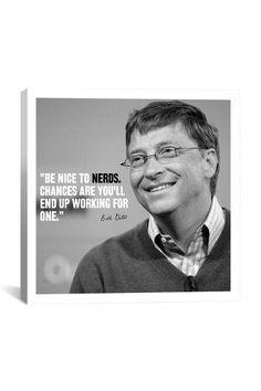 Canvas Print: Bill Gates