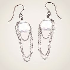 "Draped Chain Swarovski Crystal Earrings  TO BUY: Comment with your email address and you'll receive a secure checkout link.  Retaul Pruve $44. FLASH Sale Price: $22.00.  Wear these romantic and modern earrings for a dreamy and luxurious look. A dazzling crystal clearteardrop draped in sterling silver chain. Earrings hang about 2"". Comment #subscribe  your email address to subscribe to instant updates via email when we post new products!  Direct link: http://ift.tt/29qwnmA  Instagram selling…"