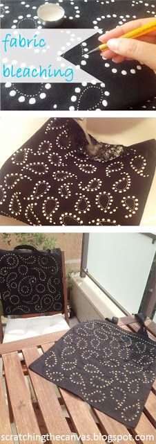 Paisley fabric bleaching
