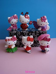 Hello Kitty Sanrio mascot set figurine 2010.