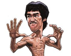 digital caricature of Bruce Lee Bruce Lee Art, Bruce Lee Martial Arts, Funny Caricatures, Celebrity Caricatures, Classic Cartoon Characters, Classic Cartoons, Jean Michel Basquiat, Cartoon Sketches, Cartoon Art