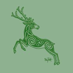 Celtic Fantasy Art | Celtic Stag | Fantasy art, Pagan stuff, Celtic stuff