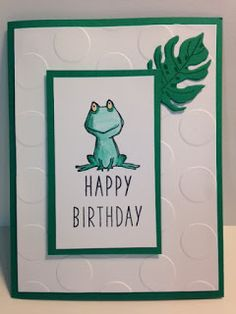 Love You Lots, Botanical Builders, May 2016 Paper Pumpkin, Birthday Card, Kids or Children's birthday card, Stampin' Up!, Rubber Stamping, Handmade Cards