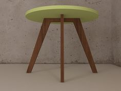 Lacquered Round table with a wooden structure. www.escarabajomuebles.blogspot.com