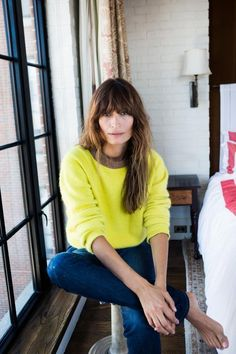 Caroline de Maigret --Choose a pop of color that makes you feel happy. Aside from Red that never fails.--