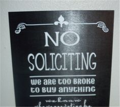 Project Center - NO SOLICITING