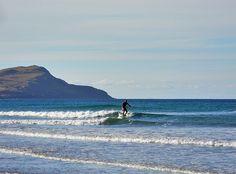 Surfer in Machir Bay, Isle of Islay
