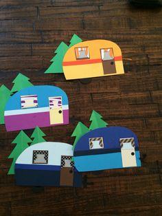 More camper door decs! Too cute! More camper door decs! Too cute! Camping Theme, Camping Crafts, Arts And Crafts Movement, Preschool Crafts, Crafts For Kids, Dorm Door Decorations, Camping Decorations, Ra Door Tags, Door Decks