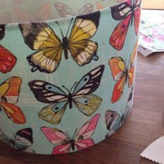 Making a Lampshade from a kit.
