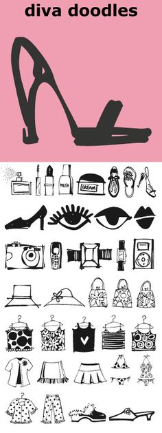 40 Little Icons A Brilliant Mix Of Charming Girl Things Diva Doodles
